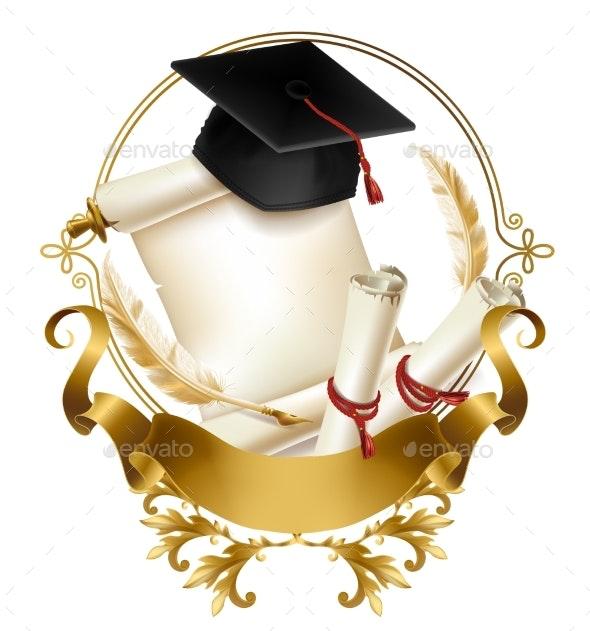 Graduation Diploma or Certificate Realistic Vector - Miscellaneous Conceptual