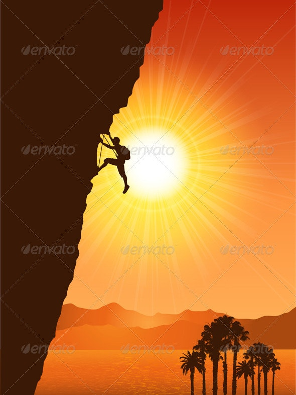 Rock Climber - Sports/Activity Conceptual
