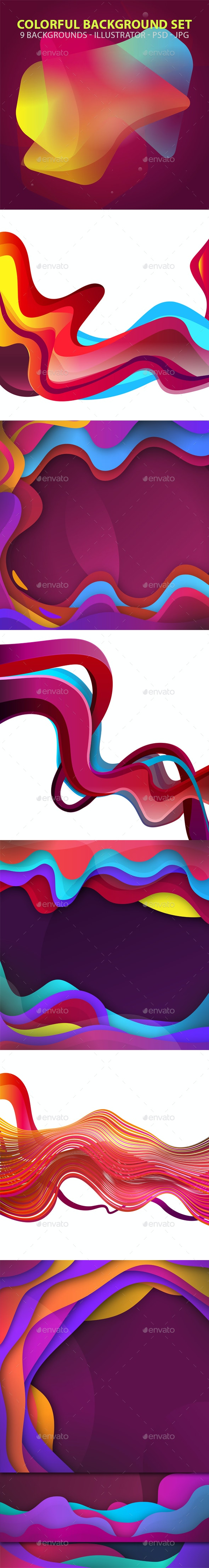 Colorful Backgrounds Set - Abstract Backgrounds