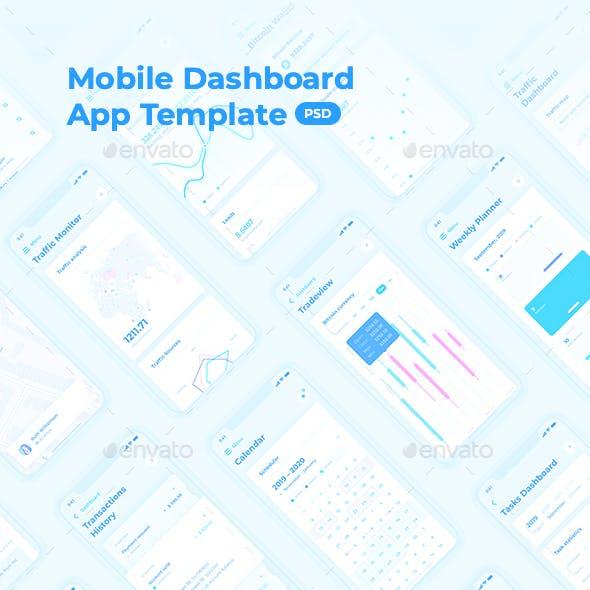 HIX App – Mobile Dashboard UI Kit for Photoshop