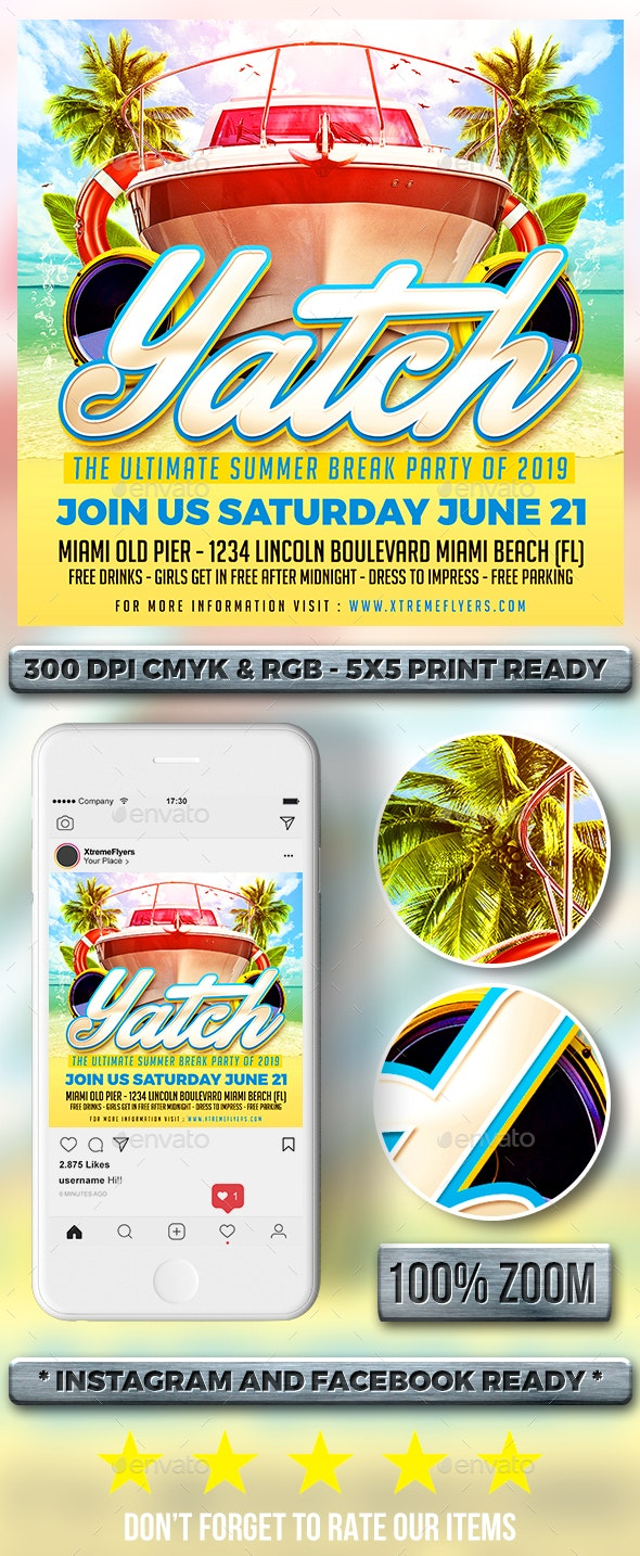 Yacht Party Flyer - Clubs & Parties Events