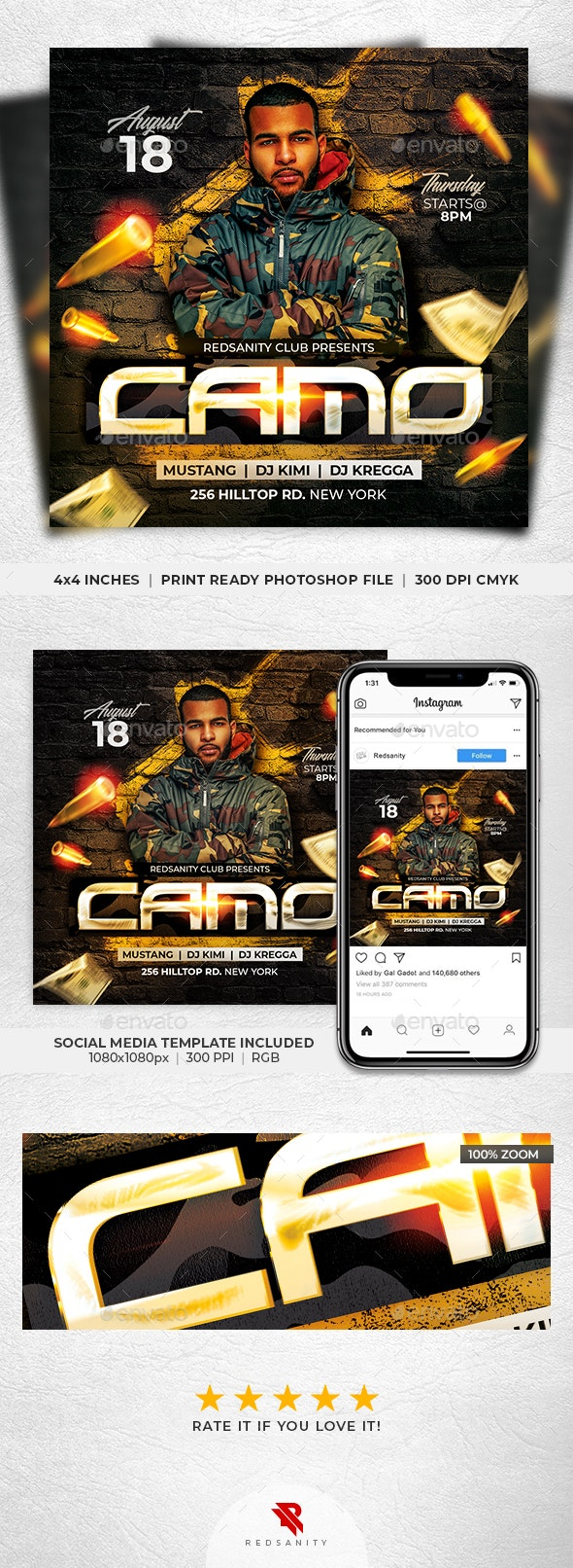 Camo Party Flyer - Clubs & Parties Events