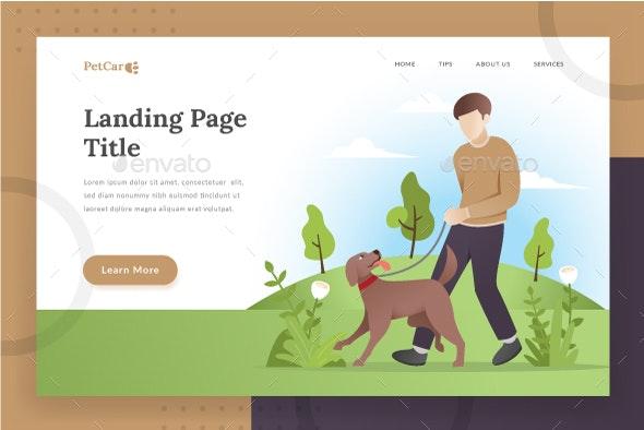 Pet Care Landing Page - Web Elements Vectors