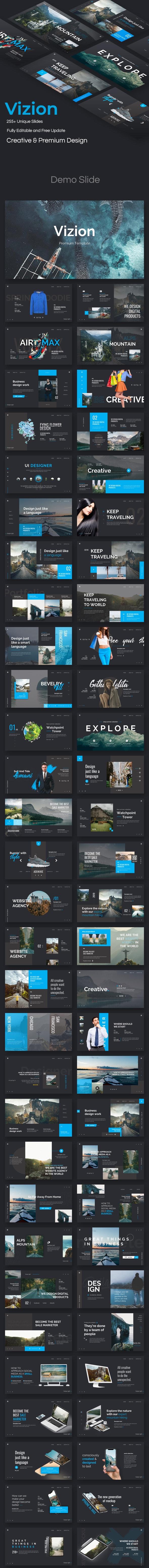 Vizion Premium Google Slide Template - Google Slides Presentation Templates