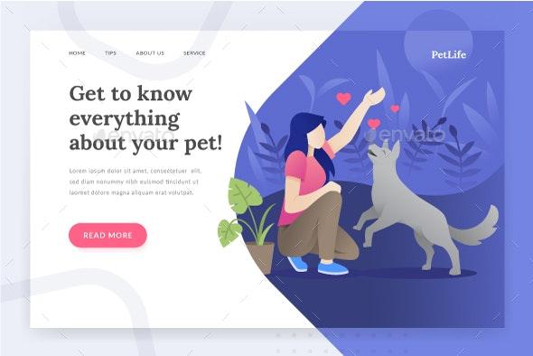 Pet Life - Landing Page - Web Elements Vectors