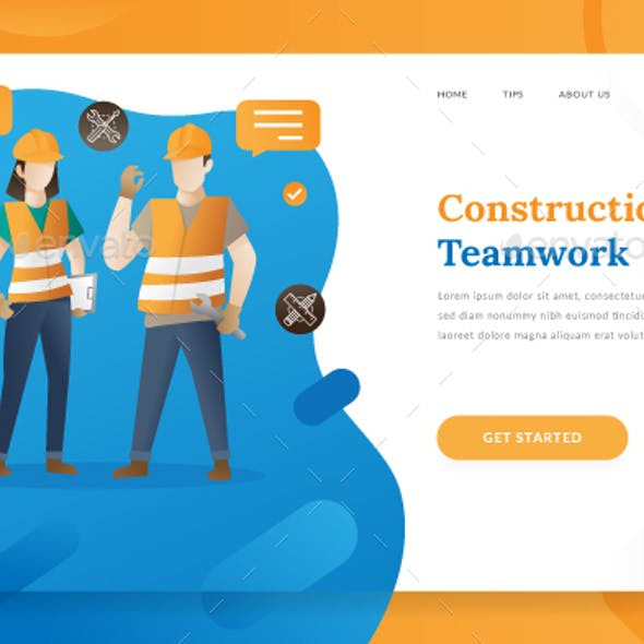 Construction Teamwork - Landing Page