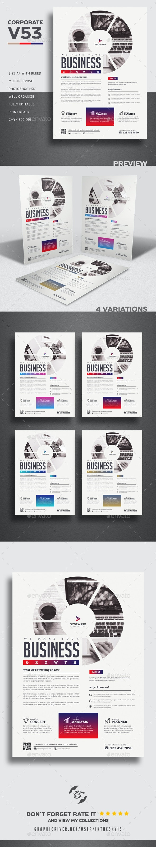 Corporate V53 Flyer - Corporate Flyers