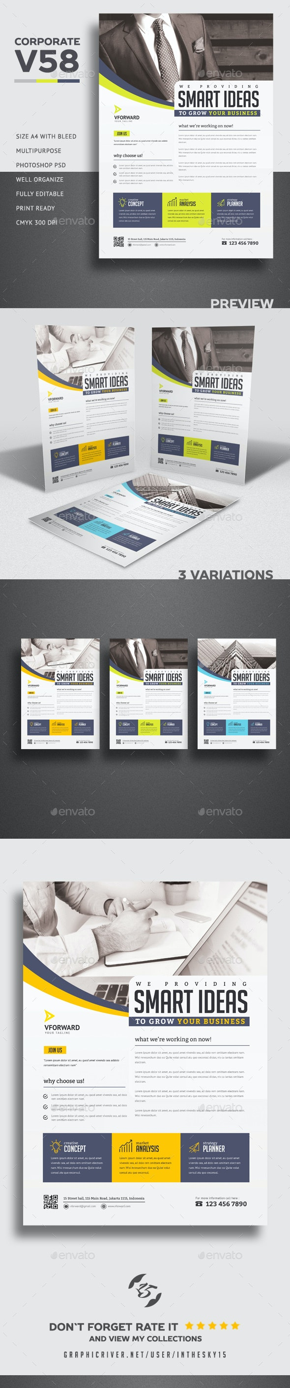 Corporate V58 Flyer - Corporate Flyers