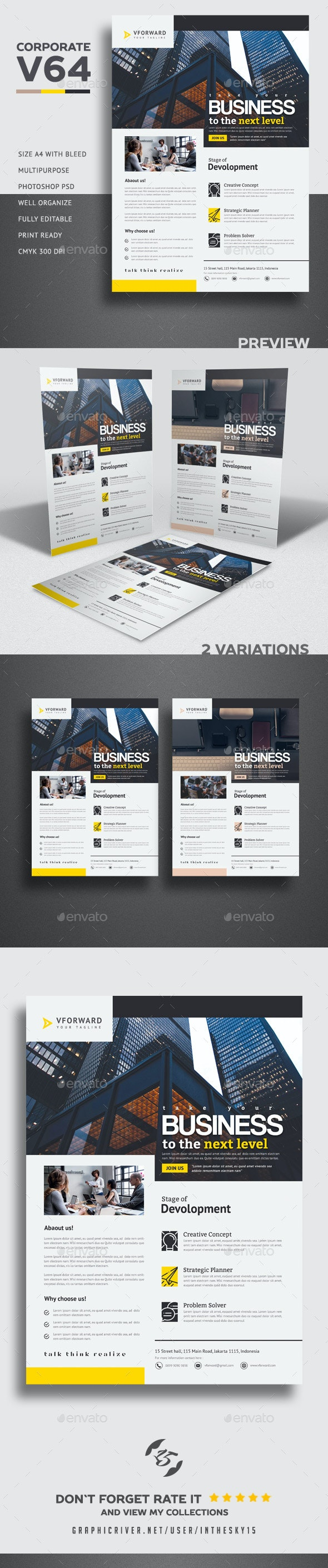 Corporate V64 Flyer - Corporate Flyers