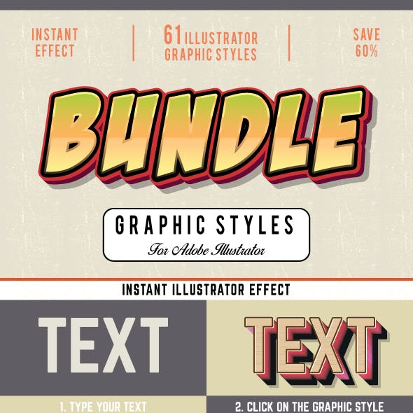 Bundle-Graphic Styles For Illustrator