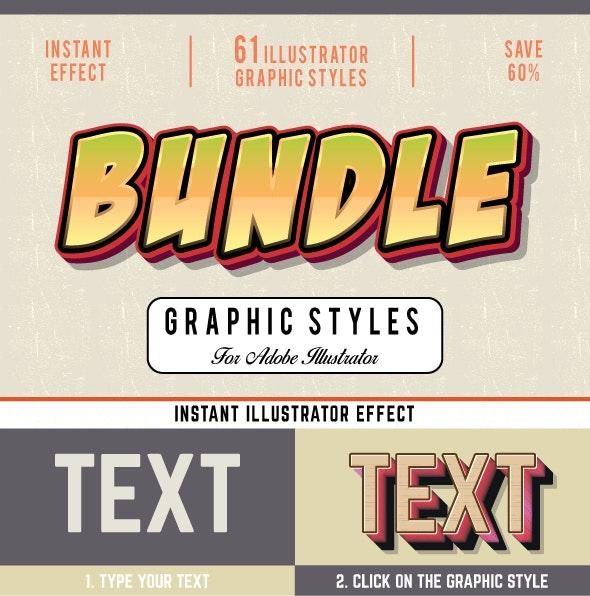 Bundle-Graphic Styles For Illustrator - Styles Illustrator