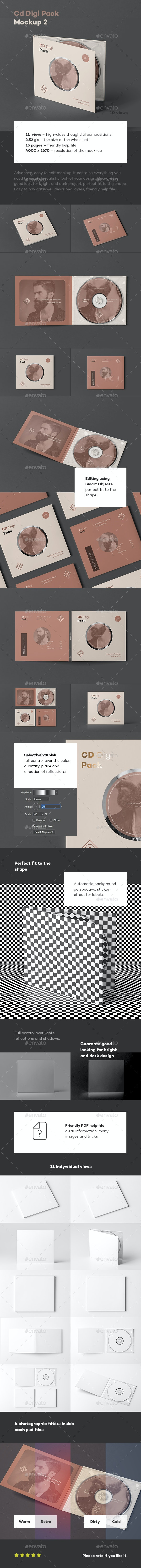 CD Digi Pack Mock-up 2 - Discs Packaging
