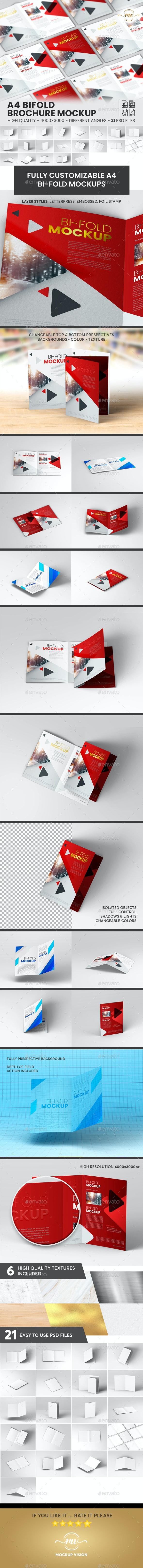 A4 Bifold, Brochure Mockup V1 - Brochures Print