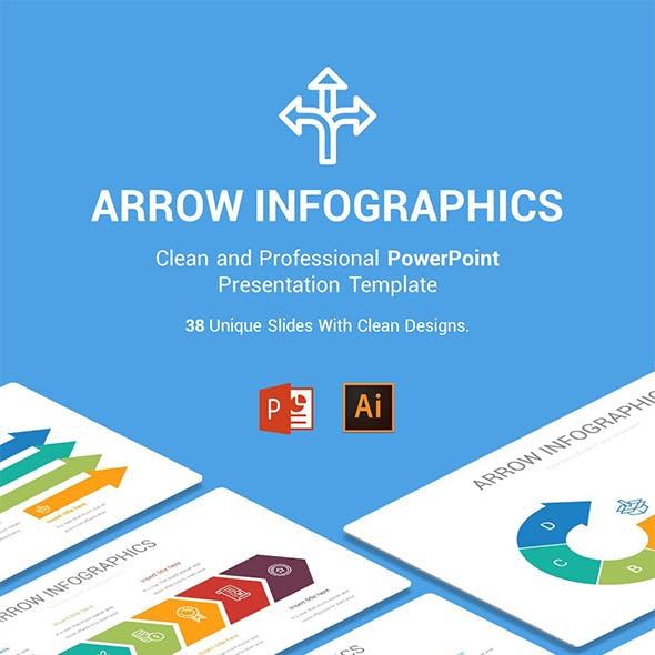 Arrow Infographics PowerPoint, Illustrator Template