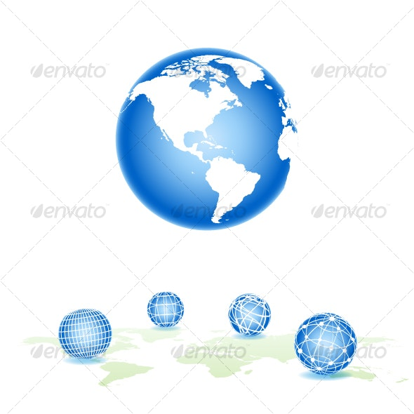 Set vector sphere - Travel Conceptual