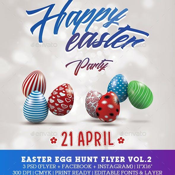 Easter Party Egg Hunt Flyer - Poster Vol.2