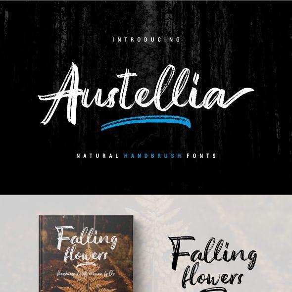 Austellia - Handbrush Fonts