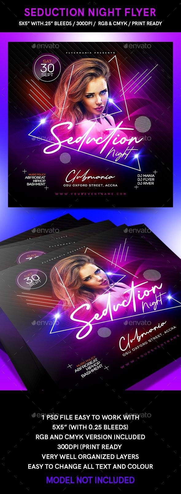 Seduction Night Flyer - Flyers Print Templates