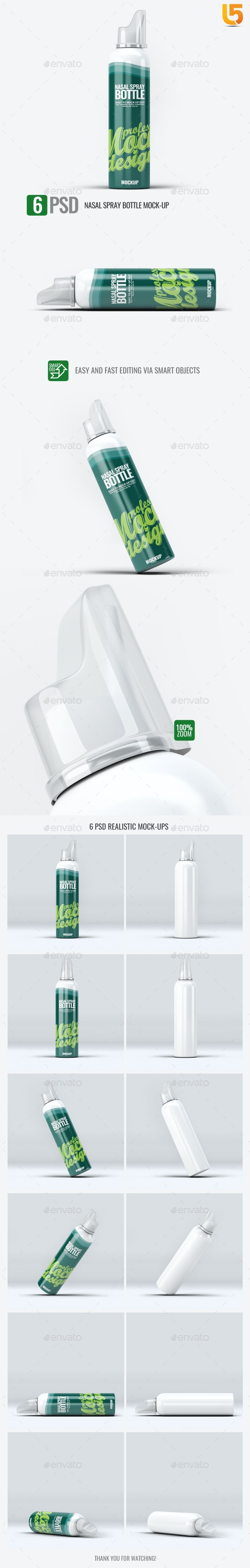 Nasal Spray Bottle Mock-Up - Miscellaneous Packaging