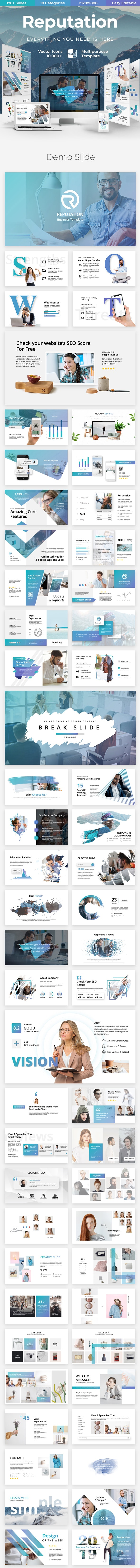 Reputation Creative - Business Keynote Template - Business Keynote Templates