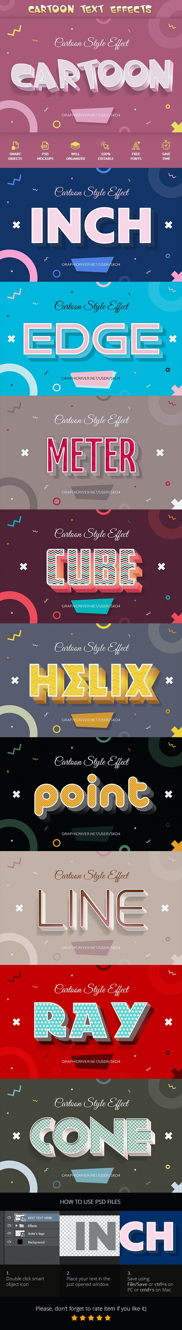 Cartoon Text Effects - Text Effects Actions