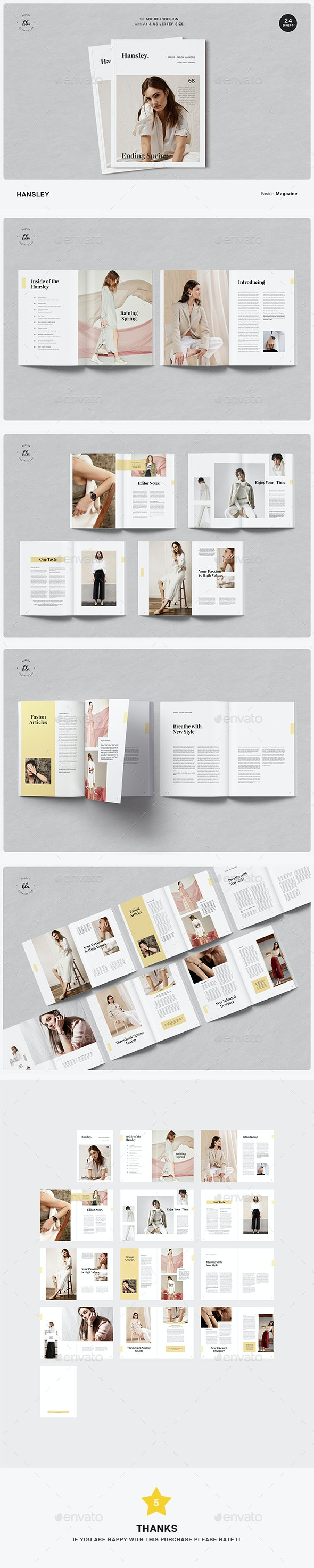 Hansley Fasion Magazine - Magazines Print Templates