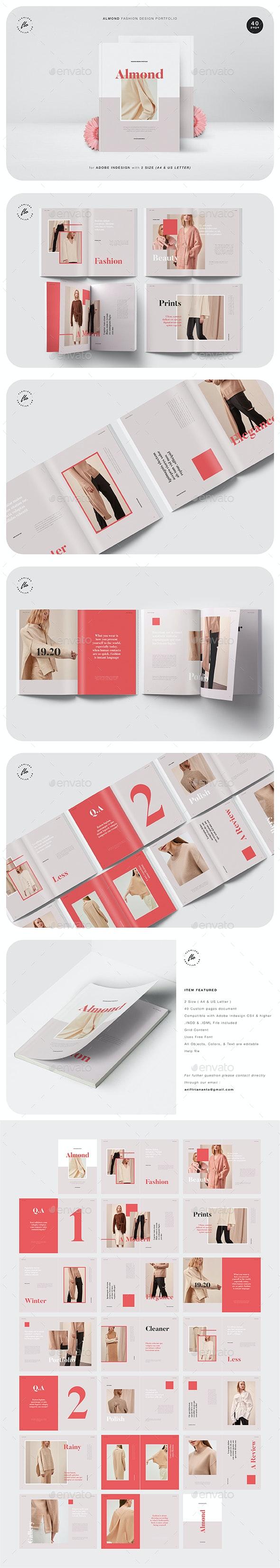 Almond Fashion Design Portfolio - Magazines Print Templates
