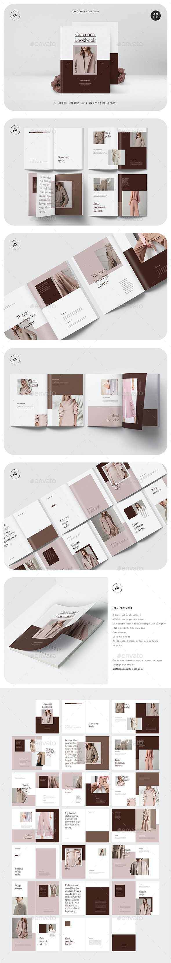 Graccona Lookbook - Magazines Print Templates
