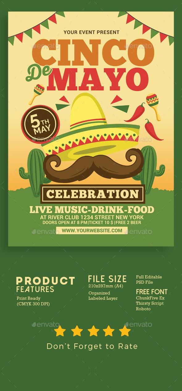 Cinco de Mayo Celebration - Events Flyers