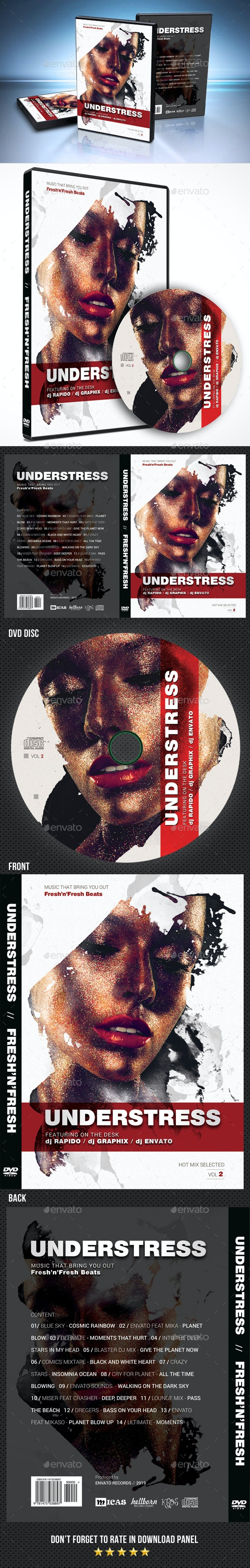 Understress DVD Cover - CD & DVD Artwork Print Templates