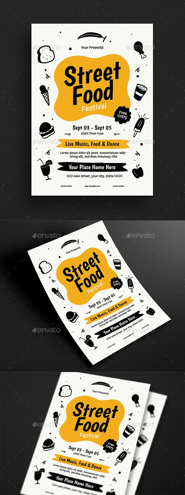 Street Food Event Flyer - Flyers Print Templates
