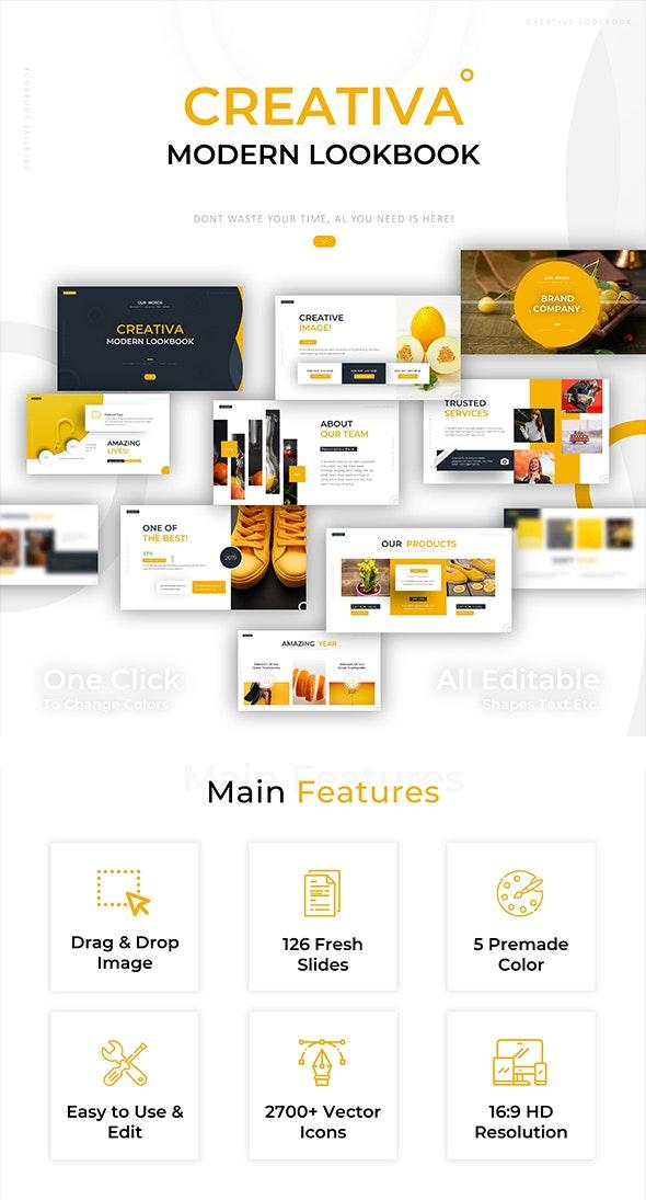 Creativa Modern Lookbook Powerpoint - Miscellaneous PowerPoint Templates