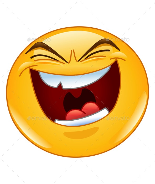 Evil Laugh Emoticon - People Characters