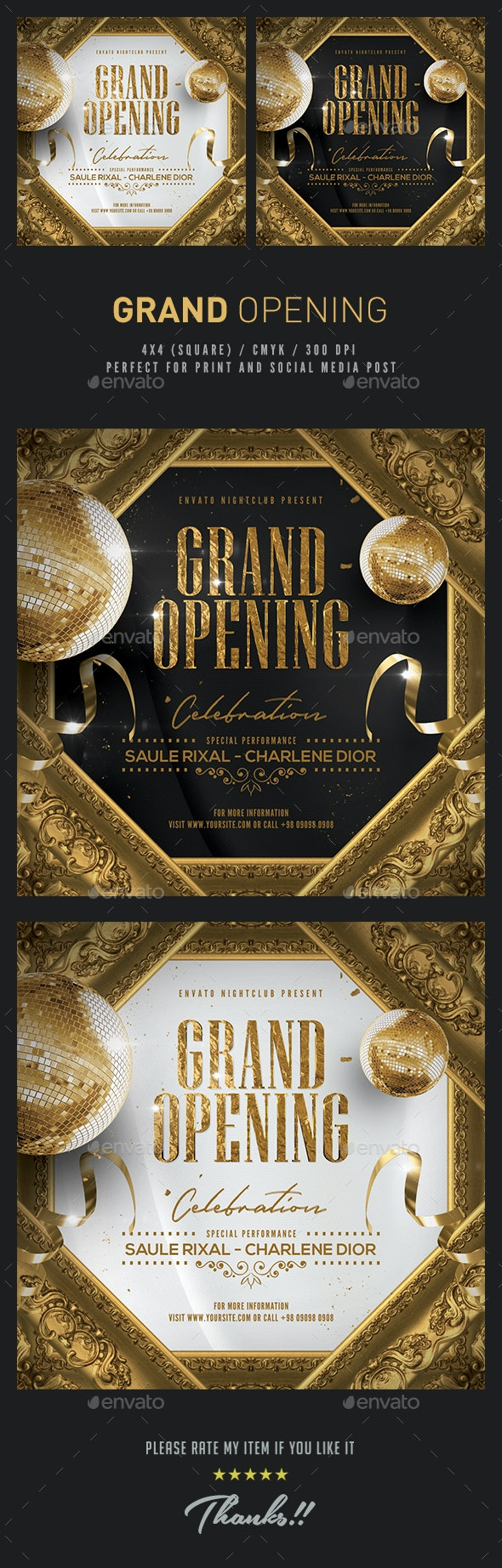 Grand Opening Promotional Flyer - Flyers Print Templates