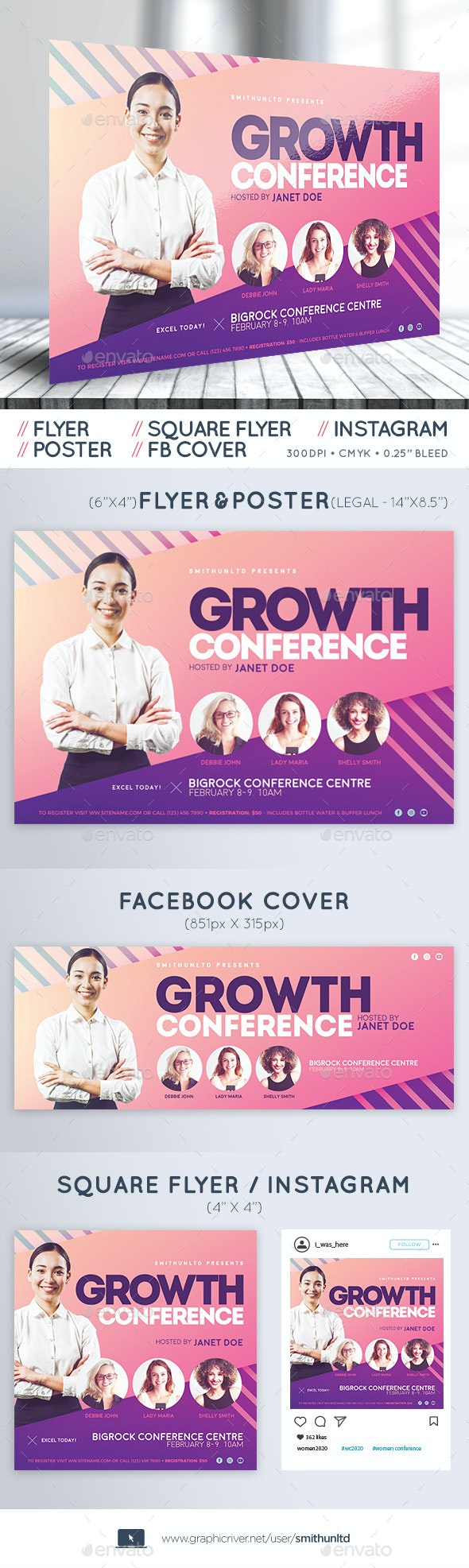 Women's Conference Flyer - Growth - Complete Set - Miscellaneous Events