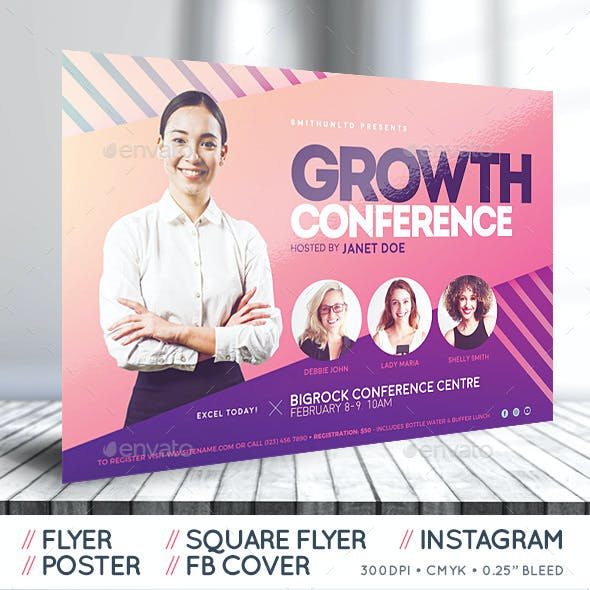Women's Conference Flyer - Growth - Complete Set
