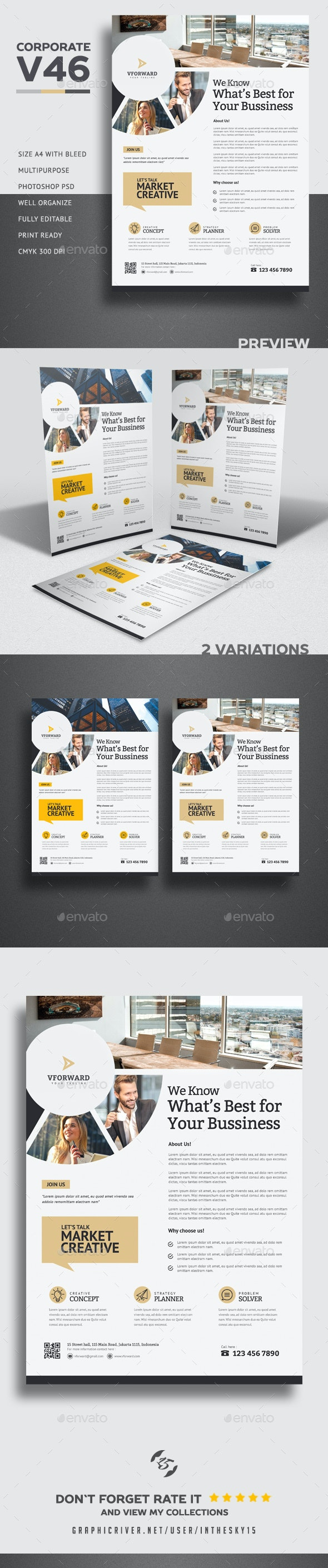 Corporate V46 Flyer - Corporate Flyers
