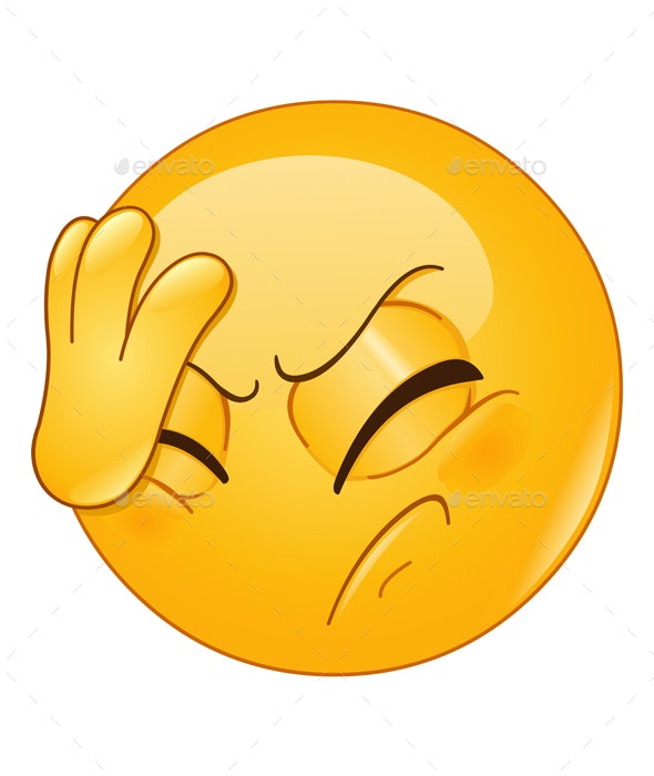 Face Palm Emoticon - People Characters