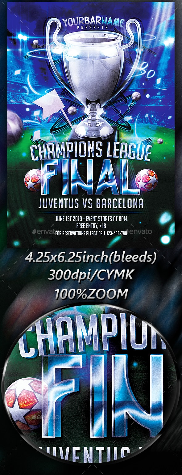 Champions League Final Flyer - Sports Events