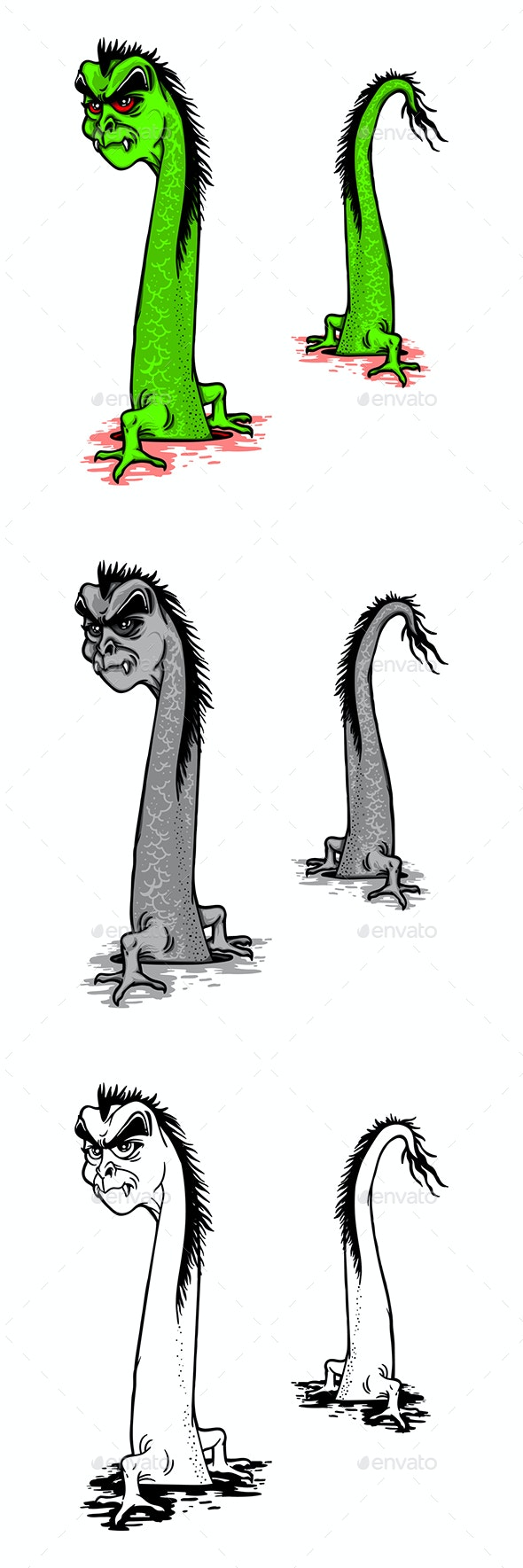 Ugly Beast - Monsters Characters