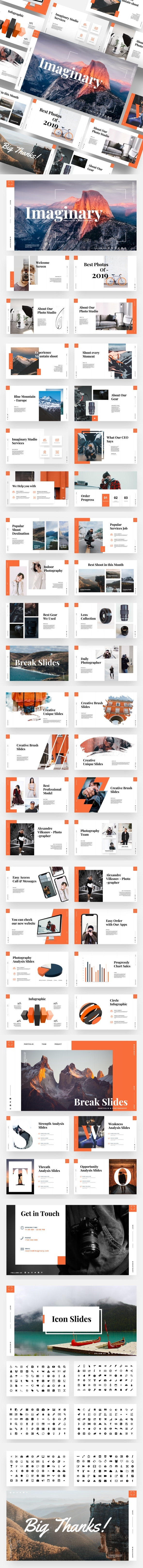 Imaginary - Portfolio & Photography Keynote Template - Business Keynote Templates