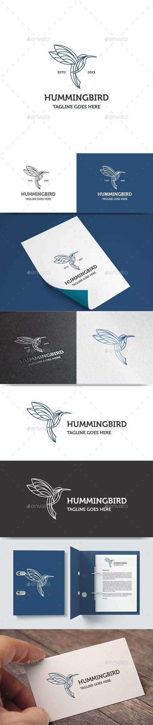 Monoline Hummingbird Logo Icon - Animals Logo Templates