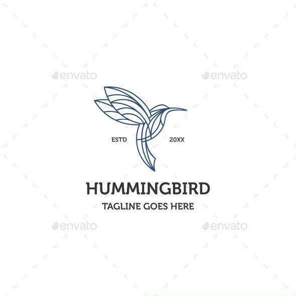 Monoline Hummingbird Logo Icon