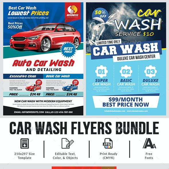 Car Wash Flyer Bundle Templates