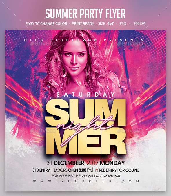 Summer Party Flyer - Clubs & Parties Events