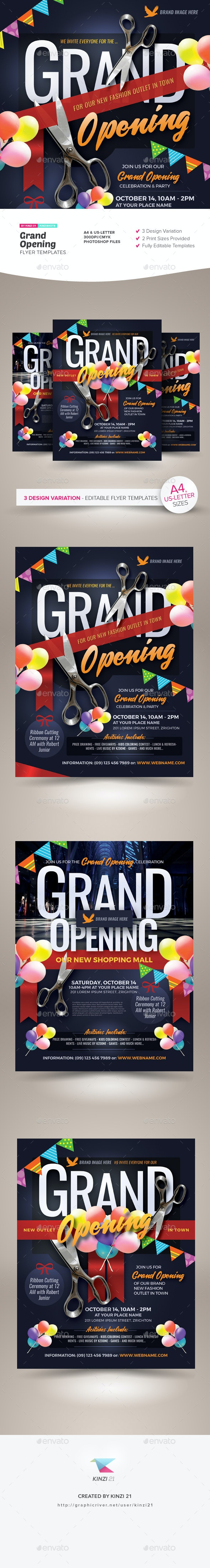 Grand Opening Flyer Templates - Miscellaneous Events
