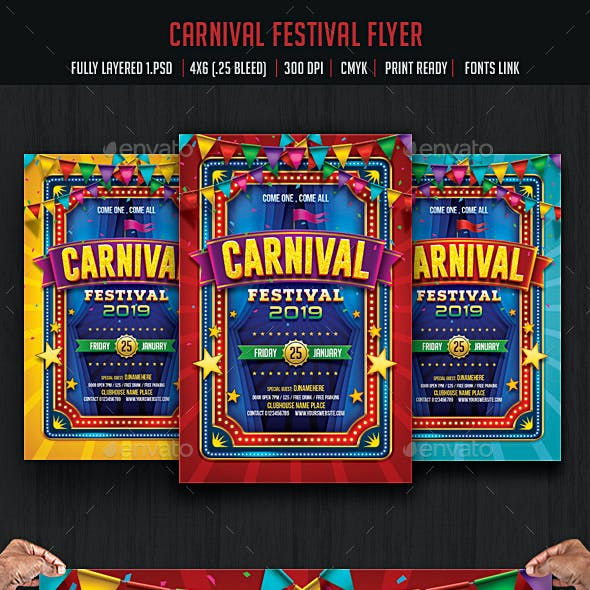 Carnival & Fun Fair Flyer