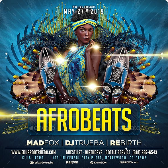Afro Beats Party Flyer