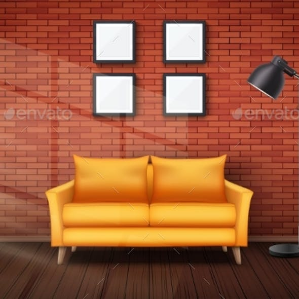 Interior of Living Room and Loft