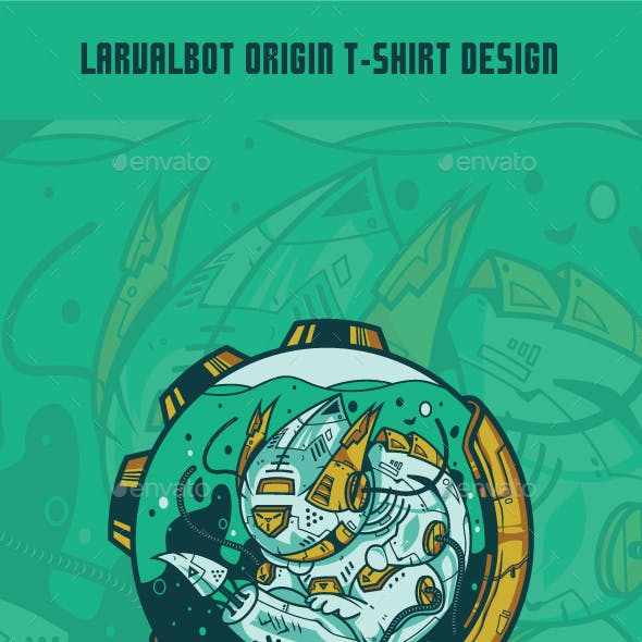 Larvalbot Origin T-Shirt Design